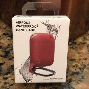 159c625a2b81 Denim - AirPods waterproof red hand case new.